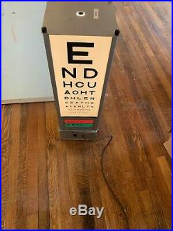 Vintage Opticians Eye Test Light, Floor Stand Lamp- RARE British Army Light, Bar