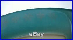 Vintage PYREX #055 SNOWFLAKE TURQUOISE 2 1/2 Qt Oblong Curved Casserole Rare HTF
