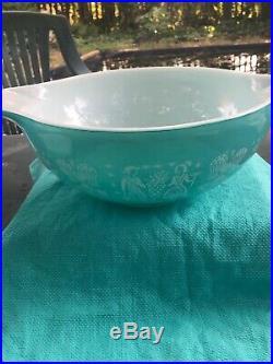 Vintage Pyrex Amish Butterprint Cinderella Mixing Bowl Set Turquoise Rare