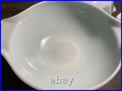 Vintage Pyrex Aqua Blue Amish Butterprint Cinderella Bowls 441,442,443 &444-RARE