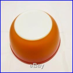 Vintage Pyrex Orange Glo mixing nesting bowls set of 4/Pyrex Orange Glo Rare