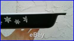 Vintage Pyrex Snowflake Black #548 Space Saver 1 1/4 Qt RARE Factory Mistake