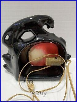 Vintage Rare Fighting Black Panthers TV Lamp Mid Century Modern MCM