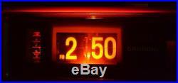 Vintage Rare Grundig Flip Clock Eames Red Mid Century Modern Am/Fm Radio Mod