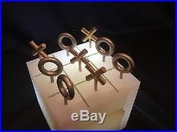 Vintage Rare Mid Century Modern Curtis Jere Onyx Tic-Tac-Toe Game