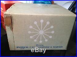 Vintage Rare Promotional Pyrex UFO Atomic Age 2 QT Casserole & Warmer #924CM