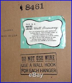 Vintage Turner Wall Accessory Shadowbox Mirror & Shelf Mid-Century Modern Rare