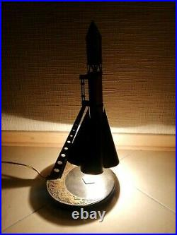 Vintage USSR Space Age 60's Desk Lamp Rocket Soviet Space Program. Super Rare