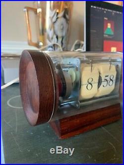 Vtg Arthur Umanoff Rare Flip Clock Howard Miller Mid Century Modern