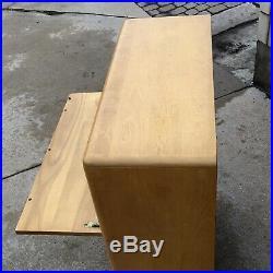 Vtg Heywood Wakefield Rare Desk/chest Of Drawers-orig. Wheat Finish-mcm-1952