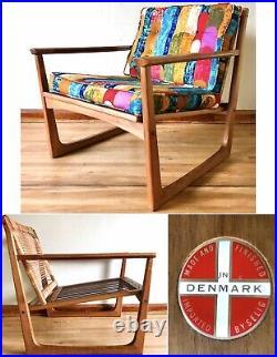 Vtg Lawrence Peabody Selig Lounge Chair Teak Danish Mid Century MCM Denmark RARE