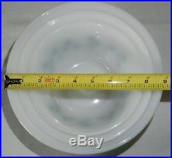 Vtg Milk Glass Mixing Bowls RARE Turquoise Star Diamond Federal Glass Pyrex