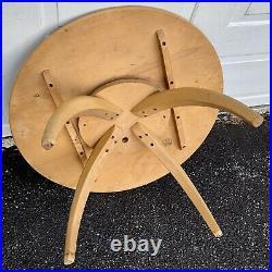 Vtg Rare Mid Century Modern Heywood Wakefield Rotating Wooden Coffee Table #306