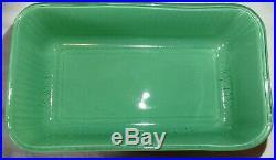 Vtg Refrigerator Dish Set RARE Aqua Turquoise Fired On Hazel Atlas Pyrex