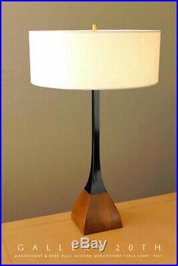Wow! Rare! MID Century Danish Modern Paul Mccobb Lamp! 1951 Vtg Rosewood & Metal