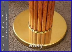 Wow! Rare MID Century Modern Teak Floor Lamp! Tiki Bali 60's Vtg 50s Brass Retro